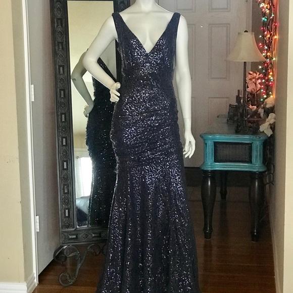 3dd8584e06ed Calvin Klein Dresses | Nwt S Long Mermaid Sequined Dress | Poshmark